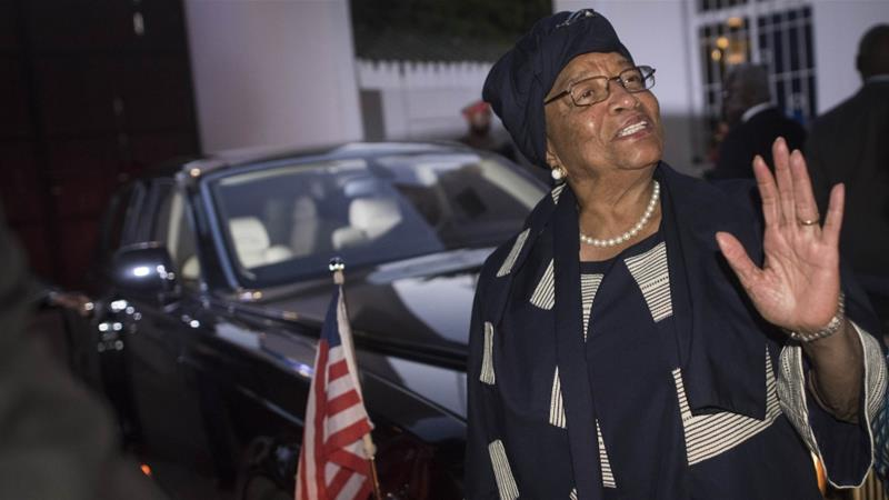 Africa's first elected female president, Ellen Johnson Sirleaf, won the Nobel Peace Prize in 2011 [AP]