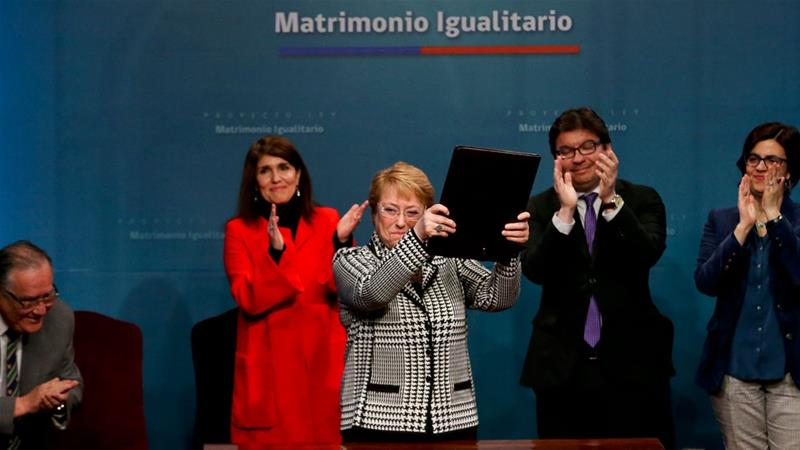 Chile's Bachelet sends gay marriage bill to congress