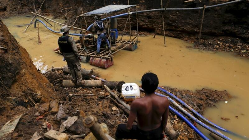 Illegal mining on indigenous land does take place in Brazil's Amazon Rainforest [File: Bruno Kelly/Reuters]