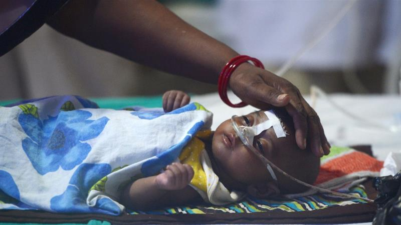 Most deaths were reported from two hospitals in Bihar state's Muzaffarpur district