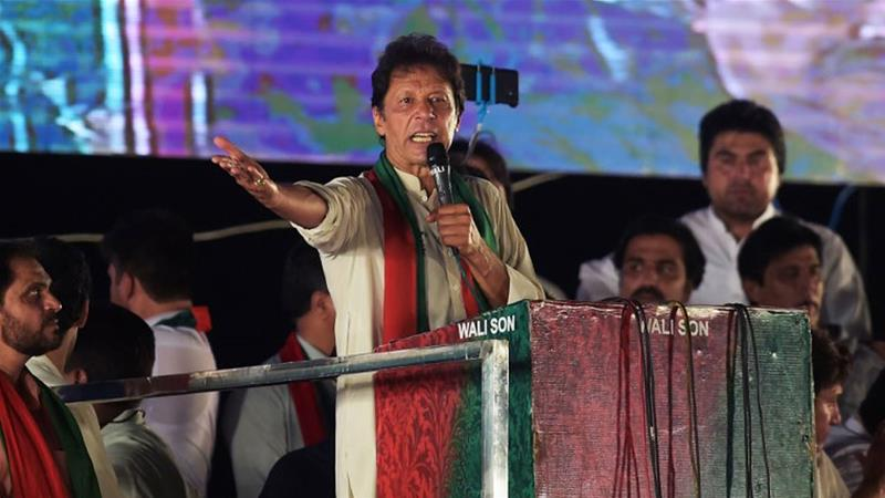 Opposition leader Khan is a former captain of Pakistan's national cricket team [Aamir Qureshi/AFP]