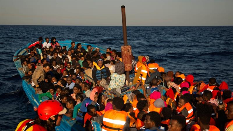 Ethiopian, Somali migrants forced into sea off Yemen