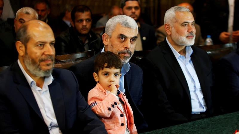 Hamas leader Ismail Haniya, right, travelled to Cairo last week for reconciliation discussions [File: Mohammed Salem/Reuters]