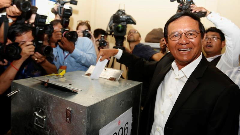 Main Cambodian opposition leader arrested, paper shuts as crackdown grows