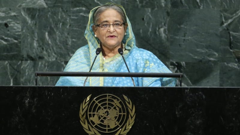 Bangladesh PM wants Rohingya safe zones in Myanmar