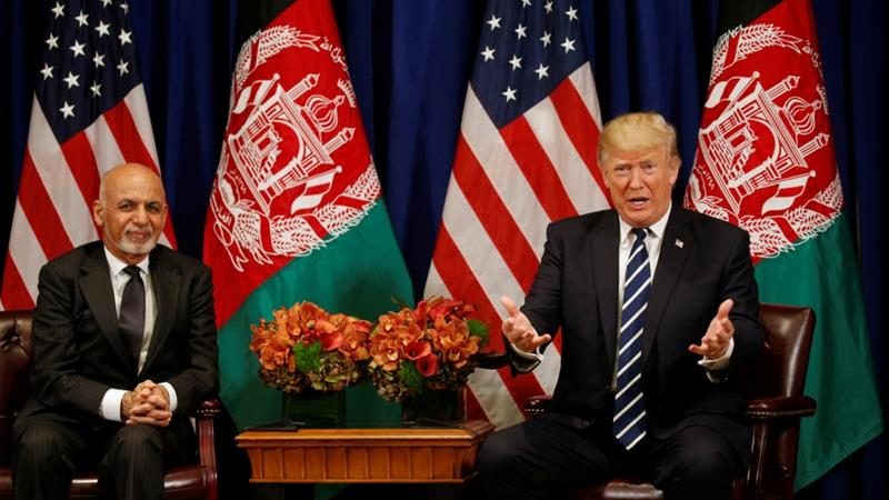 US has spent more than $800bn in Afghanistan, the biggest chunk on security, including the cost of US forces in the country [File: Kevin Lamarque/Reuters]