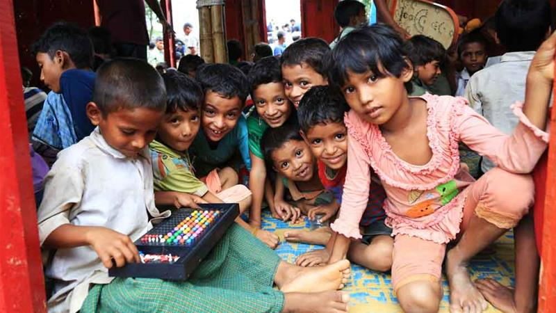Less than two percent of humanitarian aid goes towards education, said the International Rescue Committee [Showkat Shafi/Al Jazeera]