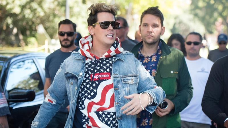 Right-wing commentator Milo Yiannopoulos has sparked protests at universities in the past [File: Josh Edelson/AFP/Getty Images]
