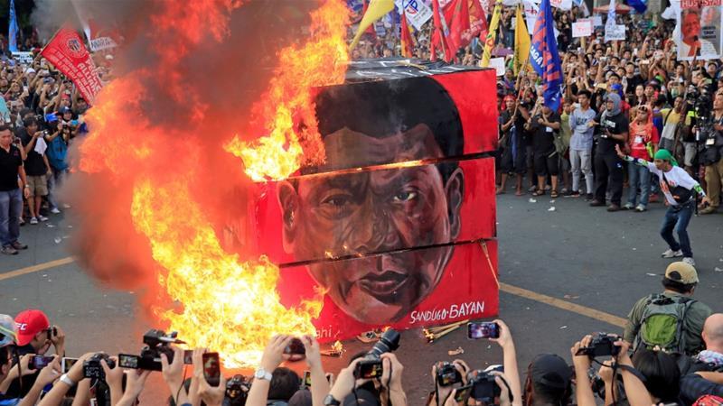 Slikovni rezultat za philippines May day protests duerte