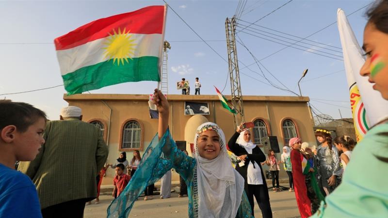 Kết quả hình ảnh cho picture of Kurd in Syria voting 22.9.2017