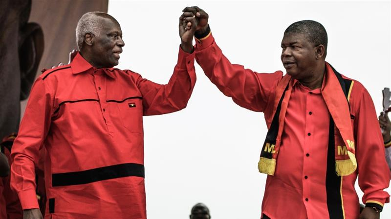 Angola swears in new president