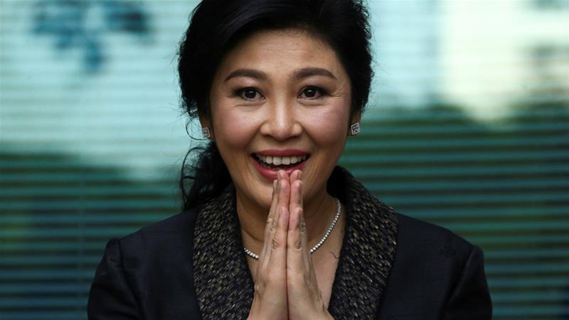 Former Thai Prime Minister Yingluck Shinawatra has been charged with corruption over a rice subsidy case [Reuters]
