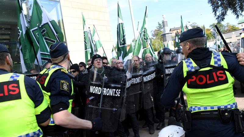 Neo-Nazis and anti-fascists clash in Sweden on Yom Kippur