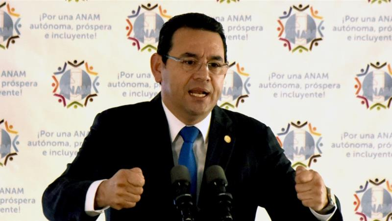 Guatemala congress to weigh lifting president's immunity