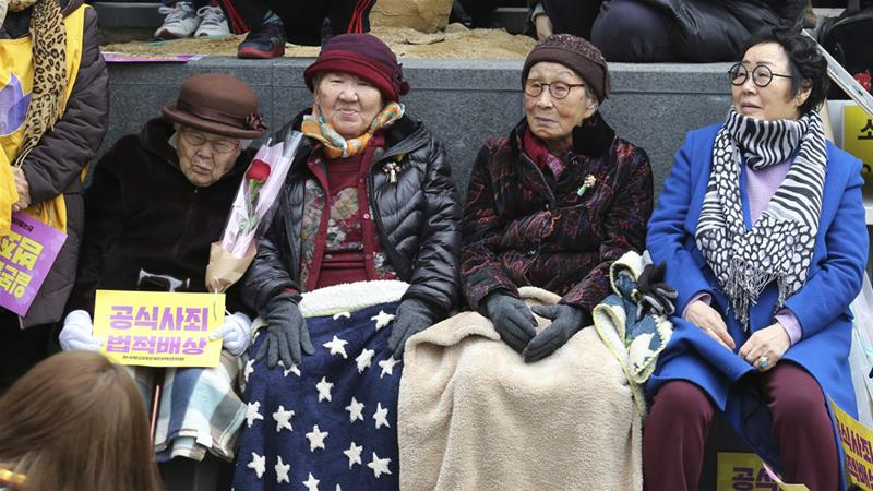 South Korea protest over 'comfort women'