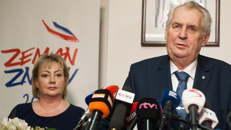 Czech President Milos Zeman will face a runoff in two weeks [Reuters]