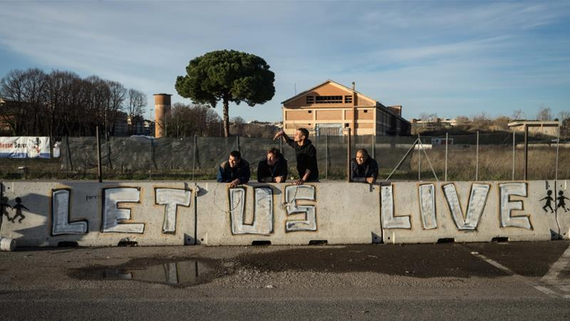 On the outskirts of Rome, refugees and migrants find aid at Baobab Experience, a makeshift camp [Patrick Strickland/Al Jazeera]