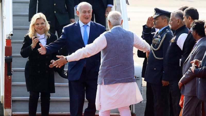 India's Modi gives warm welcome to Israel's Netanyahu