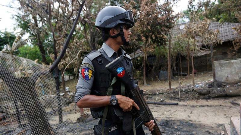 Police in Rakhine State, Myanmar [Photo/Soe Zeya Tun/Reuters]