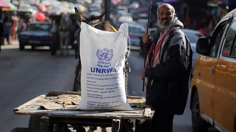The United Nations Relief and Works Agency supports about 5 million Palestinians [Ibraheem Abu Mustafa/Reuters]