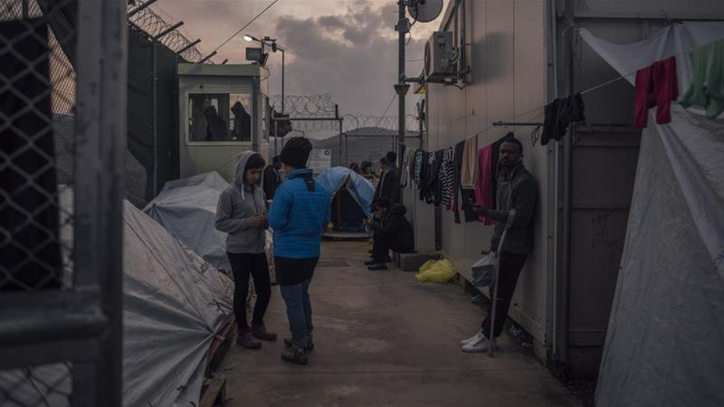 Rare look at life inside Lesbos' Moria refugee camp