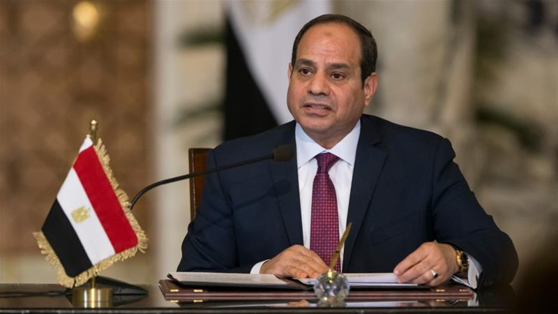 El-Sisi announced plans to seek a second term as Egypt's president last week [Alexander Zemlianichenko/Reuters]