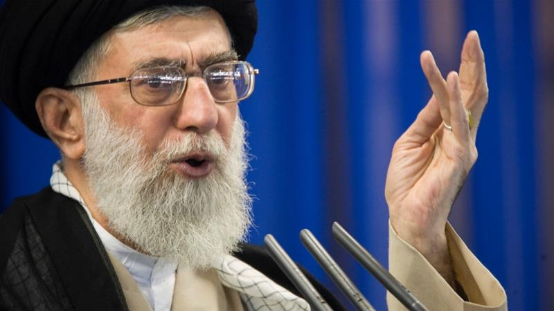 Iran's Supreme Leader Ayatollah Ali Khamenei described US forces as 'malicious and seditious' [File: Morteza Nikoubazl/Reuters]