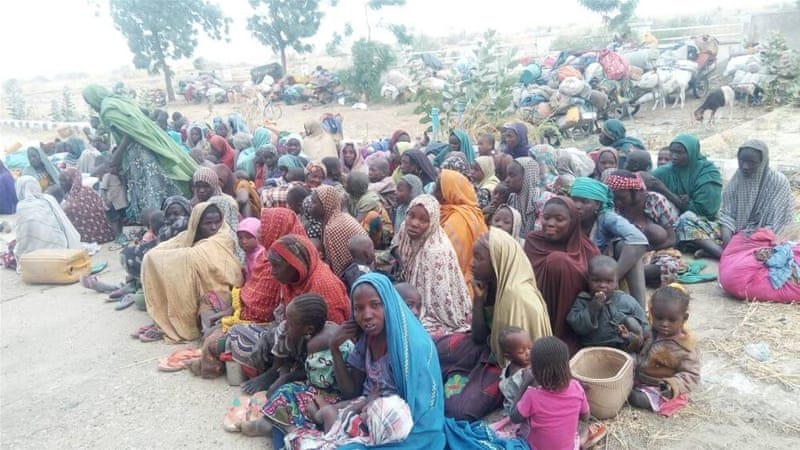 The captives included farmers, fishermen and members of their families, the army said [Nigerian Army photo]
