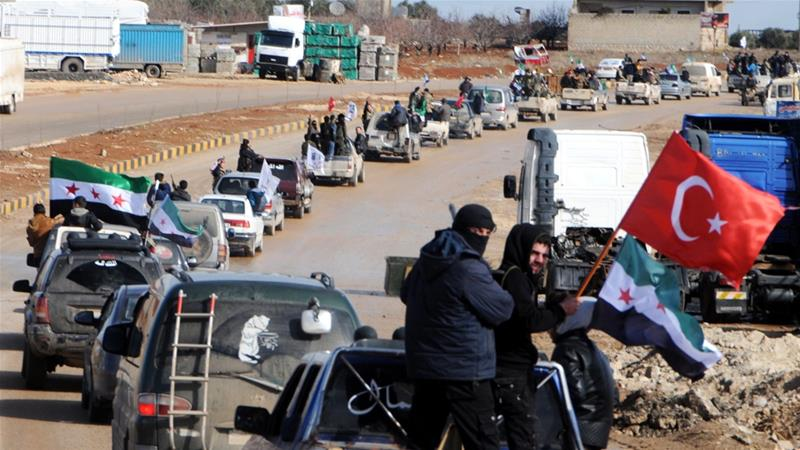 Aside from Hatay in Turkey, thousands of FSA fighters are also being mobilised east of Afrin [AP]