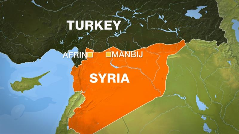 Turkeys operation in syrias afrin the key players news al jazeera after afrin turkeys president erdogan said the operation will target manbij al jazeera publicscrutiny