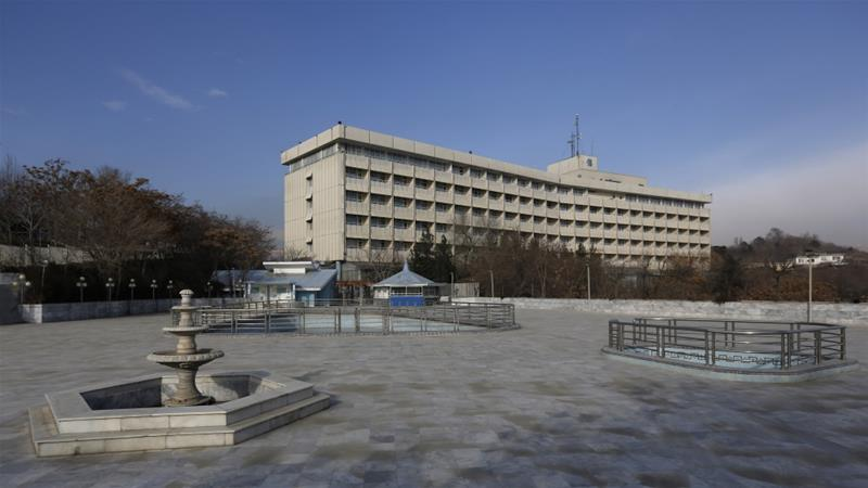 The Inter Continental Hotel is situated on a hill overlooking Kabul