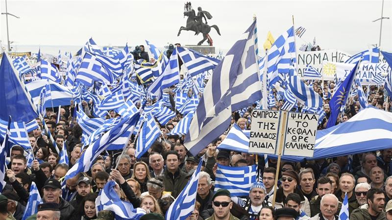 Tens of thousands join Greek protest over Macedonia name row