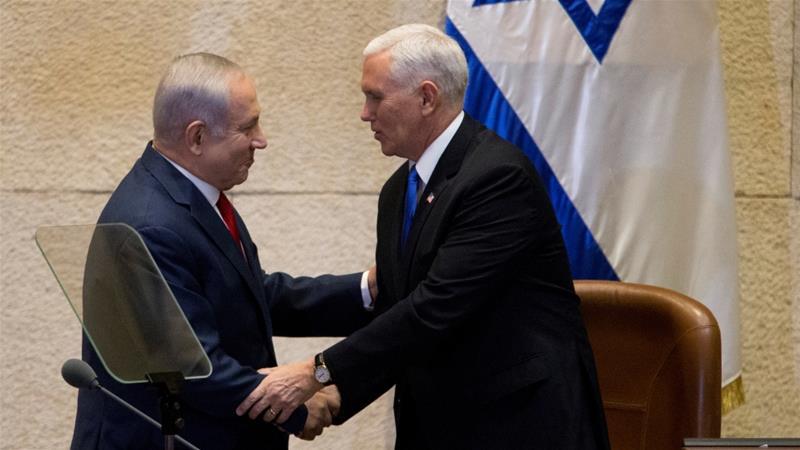 As Pence Hugs Netanyahu in Jerusalem, Abbas Turns to Europe