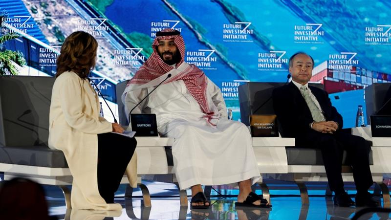Saudi Crown Prince Mohammed bin Salman attends the Future Investment Initiative conference in Riyadh on October 24, 2017 [Reuters/Hamad I Mohammed]