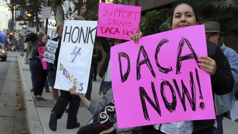 Democrats gave up an 'historic moment', Dreamers say [Reed Saxon/AP]