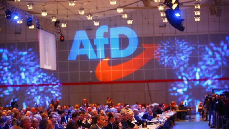 The AfD is one of the leading anti-refugee and anti-Muslim groups in Germany [Hannibal Hanschke/Reuters]