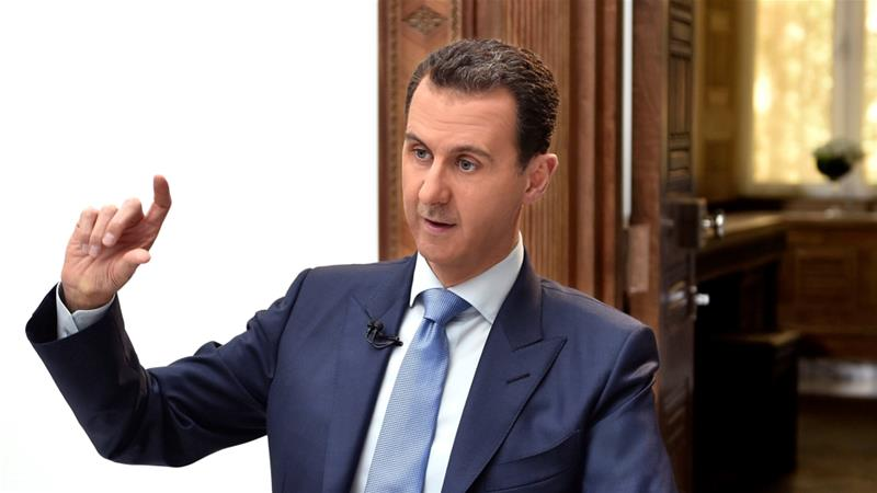 Across Europe and North America, white supremacist groups continue to pledge support for Assad [File: SANA via Reuters]