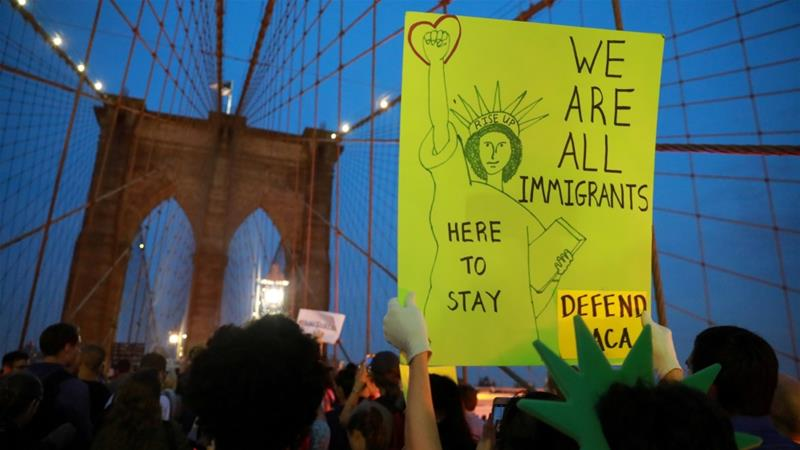 The Deferred Action for Childhood Arrivals policy, which was suspended in September 2017, allowed individuals who entered the US as minors and remained undocumented to work legally [Reuters]