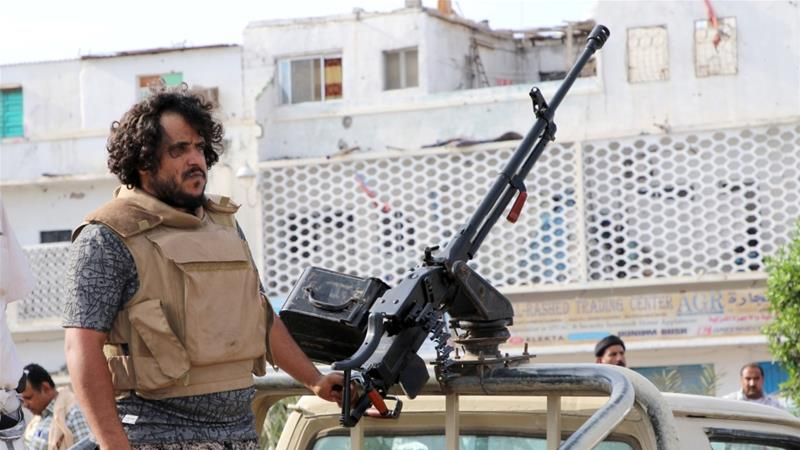 The separatists (STC) seized the government headquarters in Aden on Sunday [Fawaz Salman/Reuters]