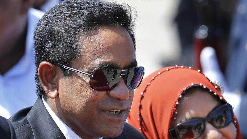 President Abdulla Yameen accused the opposition alliance of 'seeking to overthrow a legitimate government' [File: AP]