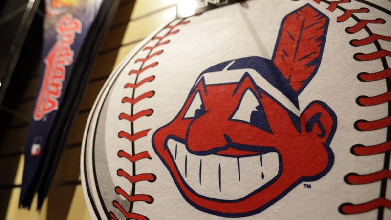 Versions of the Chief Wahoo logo have appeared on Cleveland uniforms since 1947 [Tony Dejak/AP]