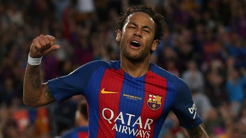 Last summer, Brazilian star forward Neymar from Barcelona joined Qatari-owned French club Paris Saint-Germain (PSG) for a record-shattering 222 million euros ($263m) [Reuters]