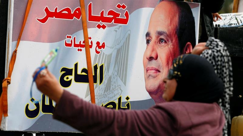 Sisi announced his presidential bid in Cairo last month [Mohamed Abd El Ghany/Reuters]