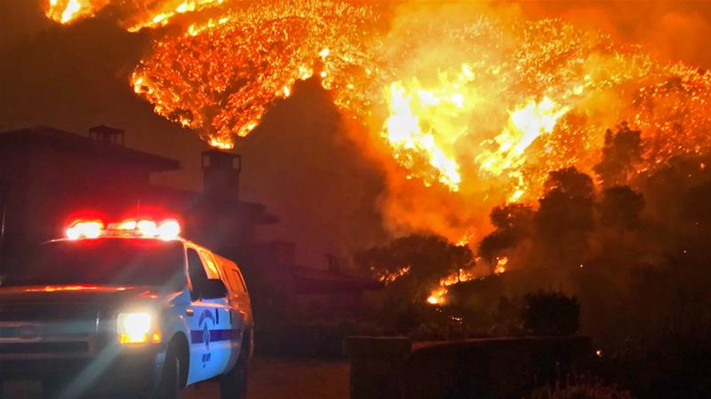 Wildfires in California last year were the largest in the state's recorded history [Mike Eliason/Santa Barbara County Fire Department via AP]