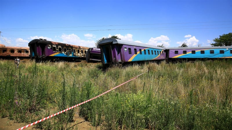 The passenger trains collided in a suburb near Hennenman [Reuters]
