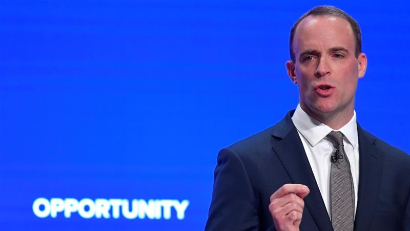 Raab's warning came 10 days after EU told Theresa May her proposed divorce terms were unacceptable [Toby Melville/Reuters]