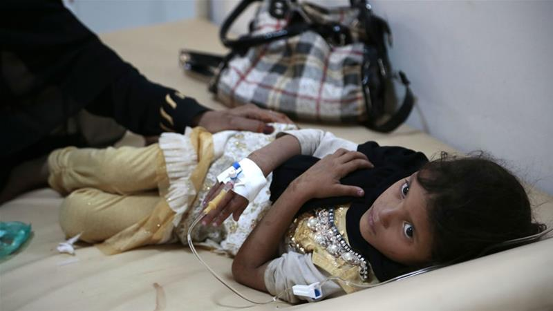 Thirty percent of all cases are children under five years old, according to the WHO [File: Hani Mohammed/AP]