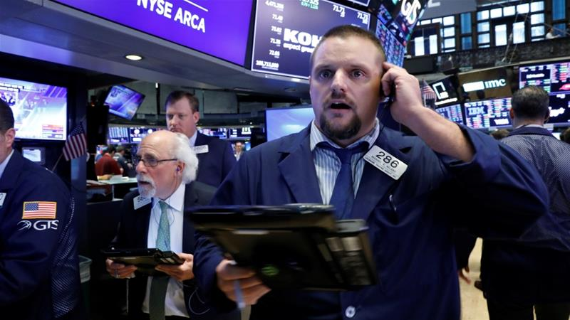 Sudden jump in US interest rates prompts Wall Street stock plunge