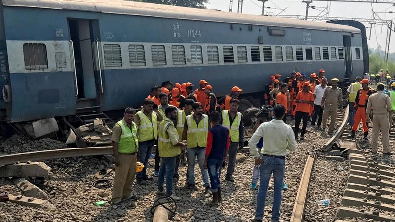 5 dead, dozens wounded after train cars derail in Uttar Pradesh