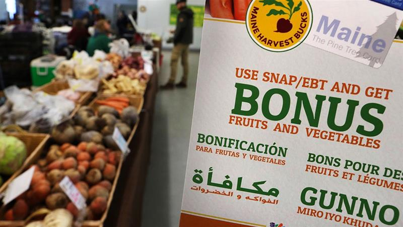 The USDA will accept public comment on a proposed rule change from President Donald Trump that could make millions of Americans ineligible for food stamps [File: Robert F Bukaty/AP Photo]